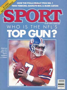 January 1987 Sport Cover (John Elway, Denver Broncos)