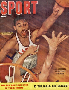 January 1957 Sport Cover (Wilt Chamberlain, University of Kansas)