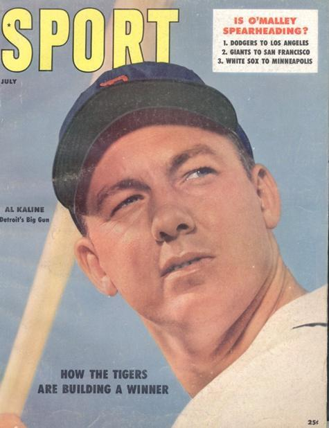 July 1957 Sport Cover (Al Kaline, Detroit Tigers)