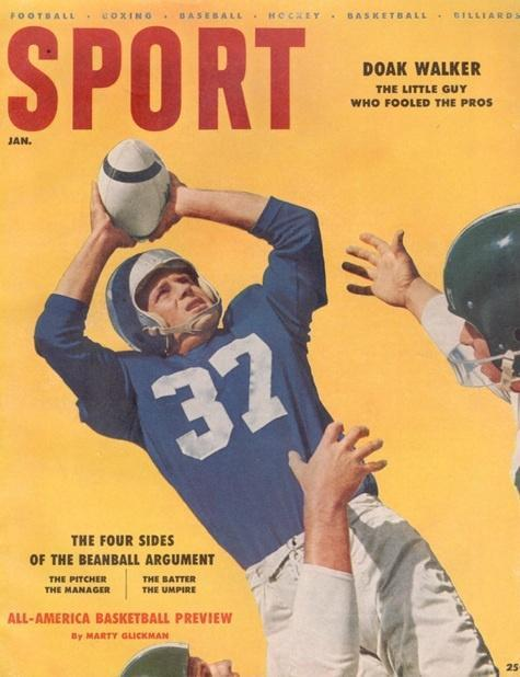 January 1956 Sport Cover (Doak Walker, Detroit Lions)