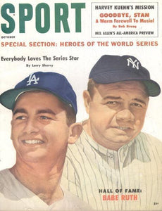 October 1960 Sport Cover (Larry Sherry, Los Angeles Dodgers, Babe Ruth, New York Yankees)