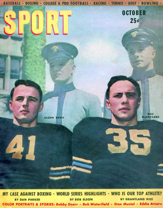 October 1946 SPORT Cover (Doc Blanchard, Glenn Davis, West Point)