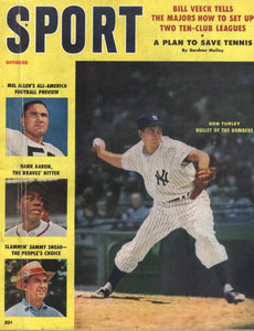 October 1958 SPORT Cover (Bob Turley, New York Yankees)