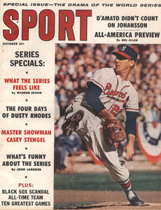 October 1959 Sport Cover (Warren Spahn, Milwaukee Braves)