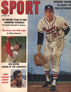 August 1961 Sport Cover (Warren Spahn, Atlanta Braves)