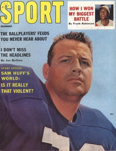December 1961 SPORT Cover (Sam Huff, New York Giants)