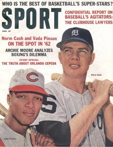 April 1962 SPORT Cover (Norm Cash, Detroit Tigers, Vada Pinson, Cincinnati Reds)