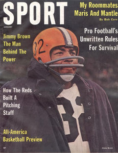 January 1962 SPORT Cover (Jim Brown, Cleveland Browns)