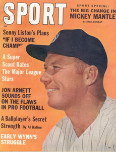 July 1962 SPORT Cover (Mickey Mantle, New York Yankees)