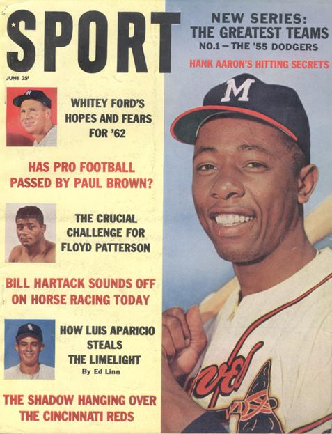 June 1962 SPORT Cover (Hank Aaron, Milwaukee Braves)