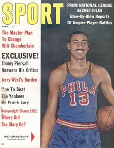 March 1962 SPORT Cover (Wilt Chamberlain, Philadelphia Warriors)