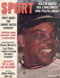 August 1963 SPORT Cover (Willie Mays, San Francisco Giants)