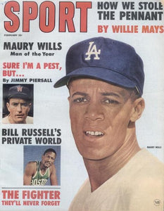 February 1963 SPORT Cover (Maury Wills, Los Angeles Dodgers, Bill Russell)