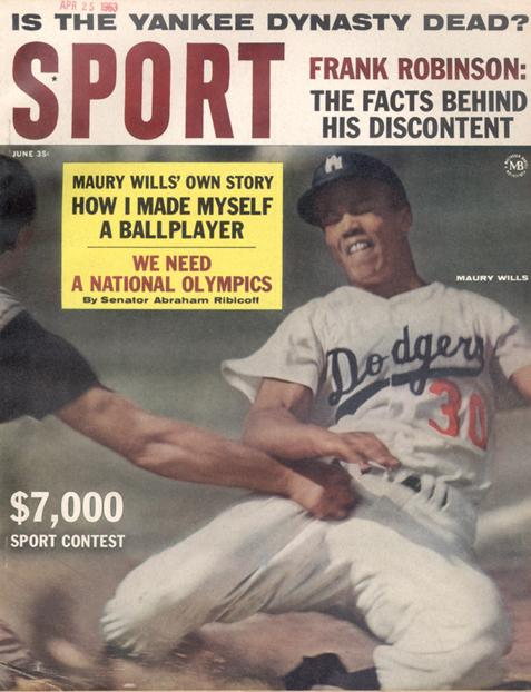 June 1963 SPORT Cover (Maury Wills, Los Angeles Dodgers)