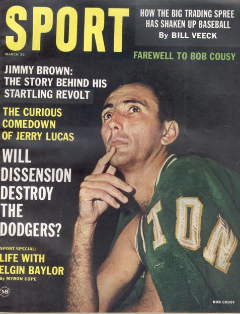 March 1963 SPORT Cover (Bob Cousy, Boston Celtics)