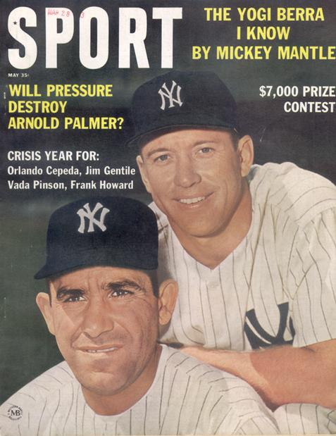 May 1963 SPORT Cover (Mickey Mantle, Yogi Berra, New York Yankees)