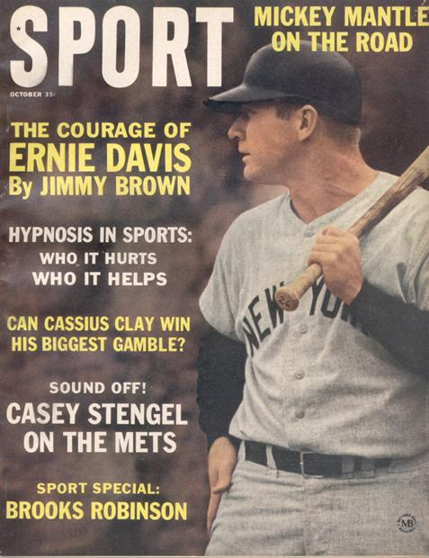 October 1963 SPORT Cover (Mickey Mantle, New York Yankees)