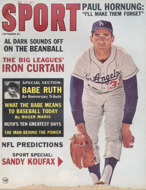 September 1963 SPORT Cover (Sandy Koufax, Los Angeles Dodgers)