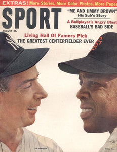 August 1964 SPORT Cover (Joe DiMaggio, New York Yankees, Willie Mays, San Francisco Giants)