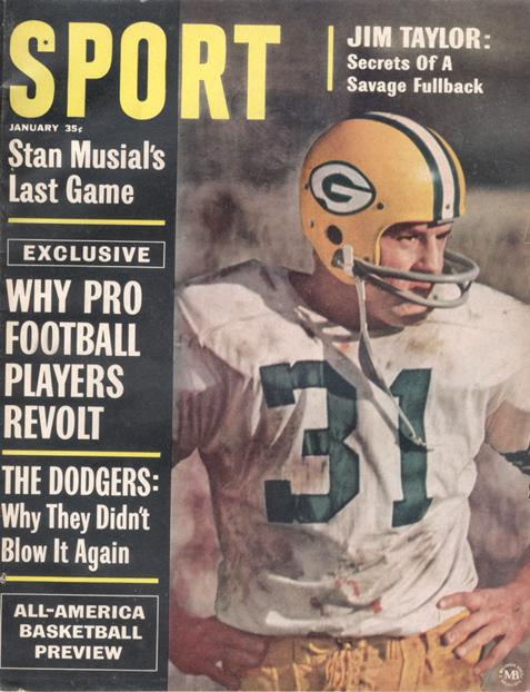 January 1964 SPORT Cover (Jim Taylor, Green Bay Packers)