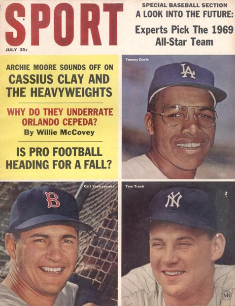 July 1964 SPORT Cover (Tommy Davis, Tom Tresh, Carl Yastrzemski)