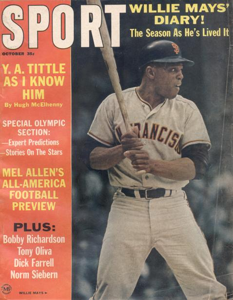 October 1964 SPORT Cover (Willie Mays, San Francisco Giants)