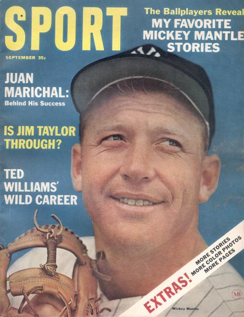 September 1964 SPORT Cover (Mickey Mantle, New York Yankees)