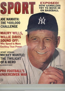 August 1965 SPORT Cover (Mickey Mantle, New York Yankees)
