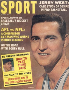 March 1965 SPORT Cover (Jerry West, Los Angeles Lakers)