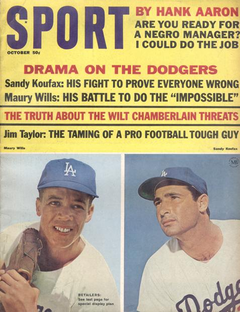 October 1965 SPORT Cover (Sandy Koufax, Maury Wills, Los Angeles Dodgers)