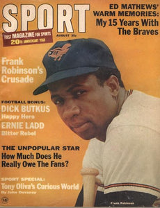August 1966 SPORT Cover (Frank Robinson, Baltimore Orioles)