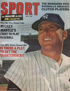 July 1966 SPORT Cover (Mickey Mantle, New York Yankees)