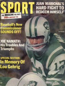 June 1966 SPORT Cover (Joe Namath, New York Jets)