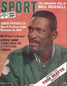 March 1966 SPORT Cover (Bill Russell, Boston Celtics)