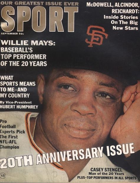 September 1966 SPORT Cover (Willie Mays, San Francisco Giants)