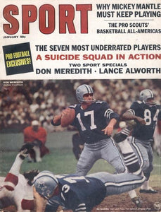 January 1967 SPORT Cover (Don Meredith, Dallas Cowboys)