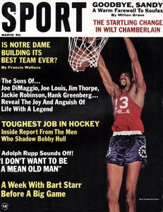 March 1967 SPORT Cover (Wilt Chamberlain, Philadelphia 76ers)