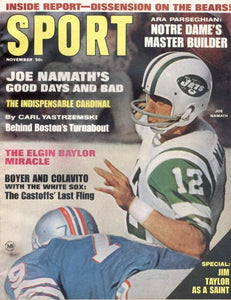 November 1967 SPORT Cover (Joe Namath, New York Jets)