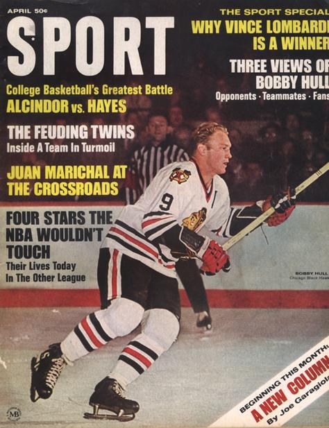 April 1968 Sport Cover (Bobby Hull, Chicago Blackhawks)