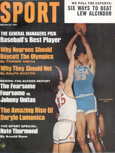 March 1968 SPORT Cover (Lew Alcindor, UCLA)