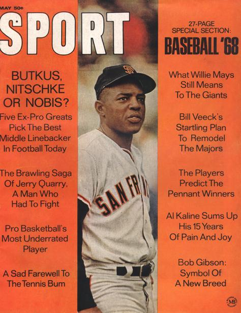 May 1968 SPORT Cover (Willie Mays, San Francisco Giants)