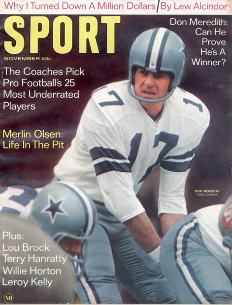November 1968 SPORT Cover (Don Meredith, Dallas Cowboys)