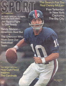 October 1968 SPORT Cover (Fran Tarkenton, New York Giants)