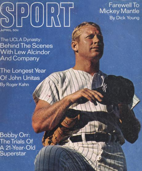 April 1969 SPORT Cover (Mickey Mantle, New York Yankees)