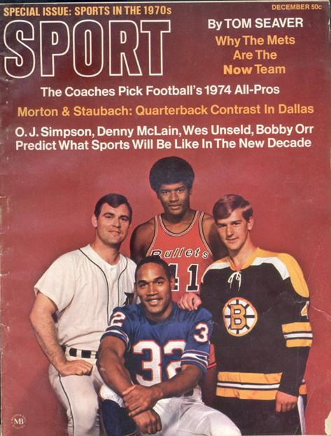 December 1969 SPORT Cover (Bobby Orr, Boston Bruins, O.J. Simpson, Buffalo Bills)