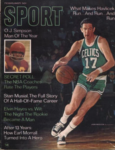 February 1969 SPORT Cover (John Havlicek, Boston Celtics)