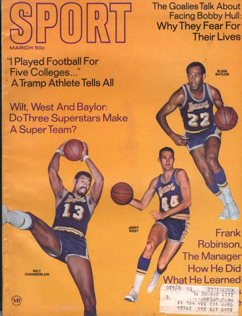 March 1969 SPORT Cover (Wilt Chamberlain, Jerry West, Elgin Baylor, Los Angeles Lakers)