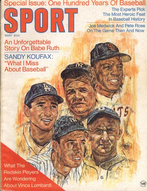 May 1969 SPORT Cover (Babe Ruth, Joe DiMaggio, Willie Mays)