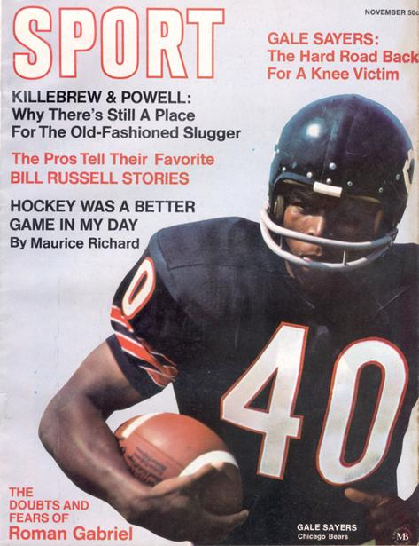 November 1969 SPORT Cover (Gale Sayers, Chicago Bears)