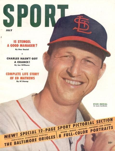 July 1954 Sport Cover (Stan Musial, St. Louis Cardinals)